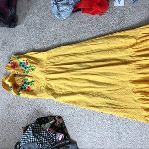 Yellow flowy maxi dress